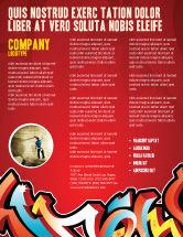 Art & Entertainment: Graffiti Flyer Template #03484
