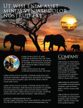 Nature & Environment: Savanna Flyer Template #03506