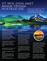 Nature & Environment: Mountain Lake Flyer Template #03534