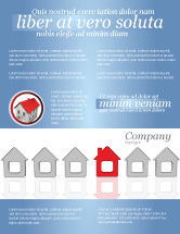 Construction: Typical House Of Suburban Icon Flyer Template #03620
