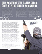 Military: Terrorist Flyer Template #03632