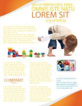 Education & Training: Modelo de Folheto - jogos infantis #03642