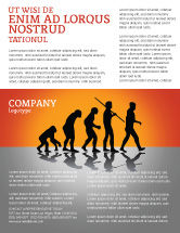 Education & Training: Human Evolution Flyer Template #03694