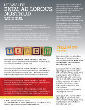 Education & Training: Teaching Flyer Template #03696