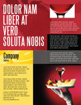 Careers/Industry: Snacks and Cocktail Flyer Template #03722
