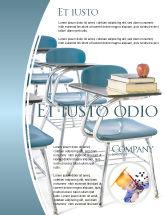 Education & Training: School Desk In A Classroom Flyer Template #03727