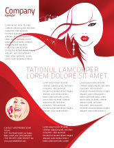 Careers/Industry: Glamour Girl Flyer Template #03744