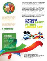 General: Rainbow Socks Flyer Template #03760