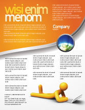 Education & Training: Orange Man With Laptop Flyer Template #03773