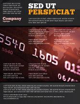 Financial/Accounting: Modelo de Folheto - cartão de pagamento eletrônico #03781