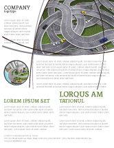 Cars/Transportation: Highway Junction Flyer Template #03837