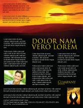 Nature & Environment: Modelo de Folheto - por do sol #03871