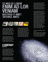 People: Fingerprint Flyer Template #03890