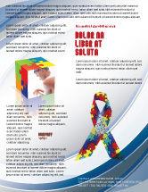 Religious/Spiritual: Modelo de Folheto - fita de conscientização do autismo #03914