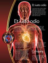 Medical: Blood Vascular System Flyer Template #03930