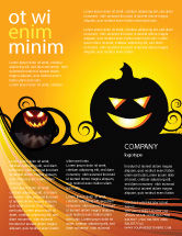 Holiday/Special Occasion: Halloween is Near Flyer Template #03967