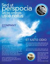 Religious/Spiritual: Peace Dove Flyer Template #03984