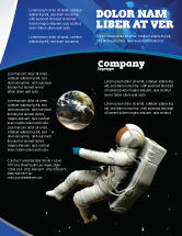 Technology, Science & Computers: Cosmonaut Flyer Template #03991