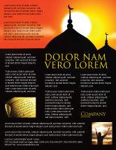 Religious/Spiritual: Modelo de Folheto - mesquitas #04019