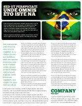 Flags/International: Face Of Brazil Flyer Template #04059