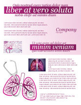 Medical: Human Lungs Flyer Template #04078