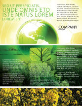 Nature & Environment: Modern Agriculture Flyer Template #04097