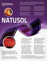 Careers/Industry: Film Strip In Purple Color Flyer Template #04168