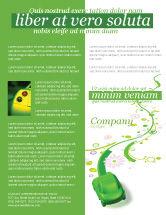 Nature & Environment: Green Car Flyer Template #04204