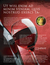 Food & Beverage: Wine Glass Flyer Template #04235
