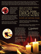Religious/Spiritual: Candle Light Flyer Template #04239