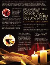 Religious/Spiritual: Modelo de Folheto - luz de vela #04239