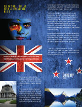 Flags/International: New Zealand Flyer Template #04258