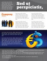 Financial/Accounting: Euro vs. Dollar Flyer Template #04268
