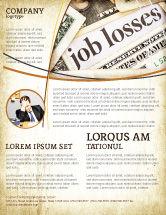 Careers/Industry: Modelo de Folheto - crise mundial #04282