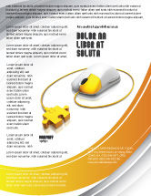 Technology, Science & Computers: Computer Mouse Connection Flyer Template #04372