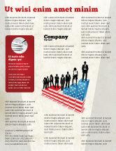America: Modelo de Folheto - hierarquia social #04393