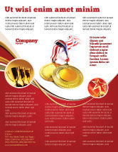 Sports: Medal Flyer Template #04414
