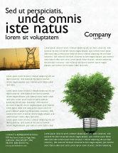 Nature & Environment: Green Energy Flyer Template #04448