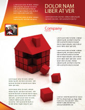 Construction: 3D Cubes Building Flyer Template #04463