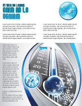 Nature & Environment: Frost Flyer Template #04481