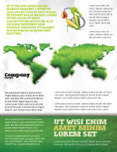 Nature & Environment: Green Grass of World Flyer Template #04500