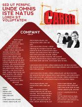 Careers/Industry: Career Building Flyer Template #04528