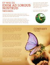 Nature & Environment: Vlinder In Je Handen Flyer Template #04567