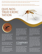 Agriculture and Animals: Mosquito Flyer Template #04599