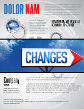 Business Concepts: Way To Changes Flyer Template #04676