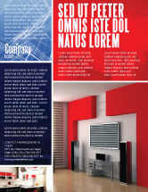 Construction: Interior Design In 3D Modeling Flyer Template #04699