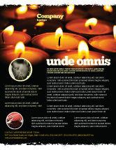 Religious/Spiritual: Modelo de Folheto - serviço religioso #04743
