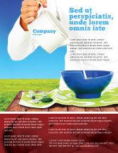 Food & Beverage: Modelo de Folheto - alimentação de leite #04747