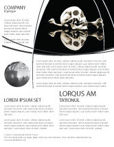 Education & Training: Skull And Bone Flyer Template #04834