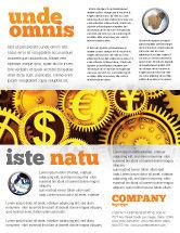 Financial/Accounting: Modelo de Folheto - finança #04839